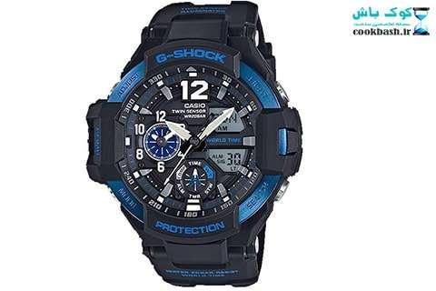 ساعت مردانه کاسیو جی شاک مدل GA-1100-2BDR
