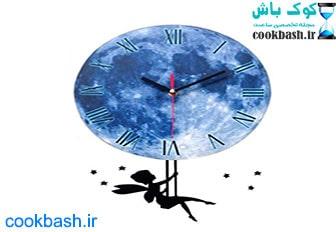 ساعت دیواری بتابی مدل ماه و فرشته کد 1060