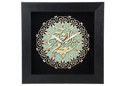 ساعت معرق دی ان دی طرح خوشنویسی بسم الله الرحمن الرحیم کد TJ 028