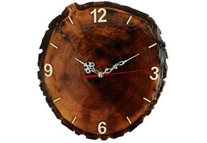 ساعت دیواری چوبی آذرنگ مدل طبیعت