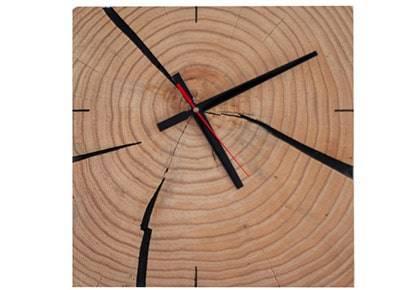 ساعت دیواری صنایع چوبی آذرباد مدل نهال کد S700