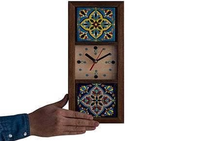 ساعت دیواری چوبی کد 1211