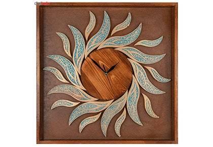 ساعت دیواری چوبی کد 023