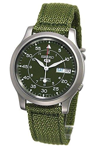 ساعت مچی اتوماتیک سبز بوم Seiko 5 از جنس استنلس استیل (SNK805)