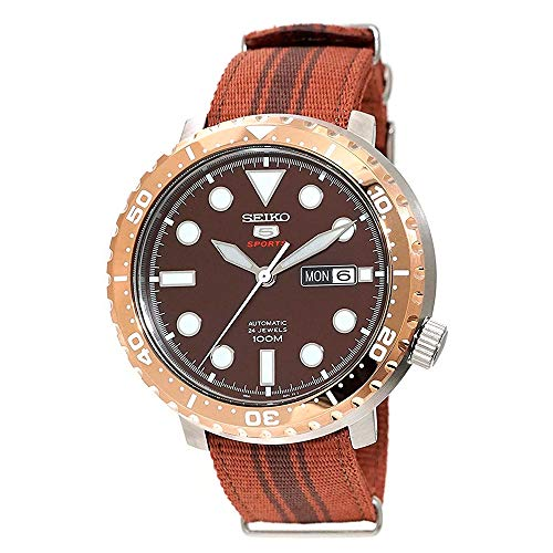 Seiko 5 Bottle Automatic Cap Sports Root Beer Watch (SRPC68K1)