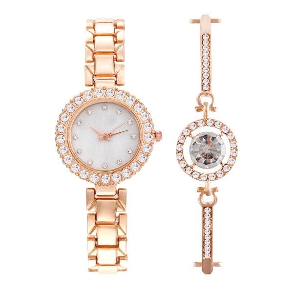 ست دستبند و ساعت مچی عقربه ای زنانه مدل cw-470