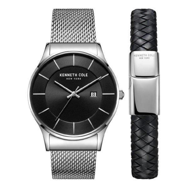 ست دستبند و ساعت مچی عقربه ای مردانه کنت کول مدل KC50985001