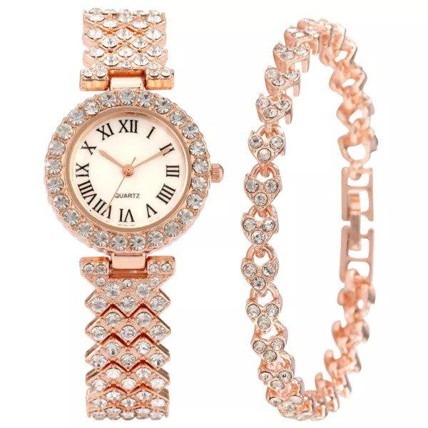 ست دستبند و ساعت مچی عقربه ای زنانه مدل MAJLESI-01